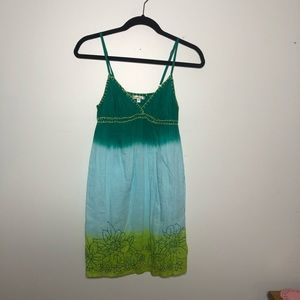Solitaire dip dye summer dress or swim coverup